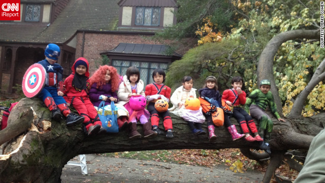 Lots of trees were down in the Forest Hills section of Queens, but <a href='http://ireport.cnn.com/docs/DOC-869891'>Vered Cohen said</a> the children were excited to just be out of the house after the storm.