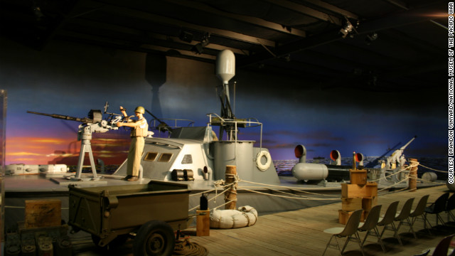 There are only two wooden PT boats currently on display in the U.S. that saw action during WWII. This is one of them, according to the museum. The exhibit offers an idea of what it was like for a PT boat crew to prepare for a night patrol.<br/><br/><br/><br/>