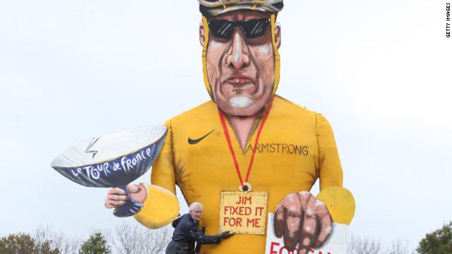 Armstrong effigy causes outrage