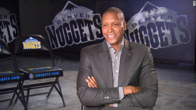Masai Ujiri is the general manager of the Denver Nuggets. Born in Zaria, Nigeria, he is the first African to take charge of a major league American sports team.