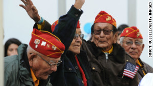 Navajo code talkers attend the 2011 Citi Military Appreciation Day event to honor veterans and current service members in New York\'s Bryant Park on November 11, 2011.