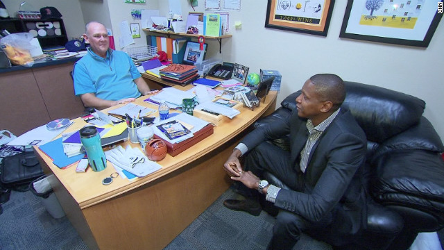 Alongside Nuggets head coach George Karl (left), Ujiri has worked to identify and recruit the best up and coming talent from the USA and beyond.
