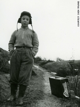 Yrvind (pictured as 13-year-old), quickly learned to sail after growing up on the small Swedish island of Branno in the North Sea.