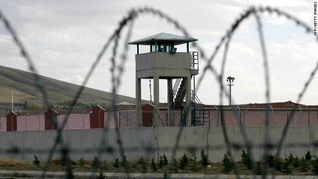 A picture taken on November 2, 2012 shows the prison outside Ankara, where 35 Kurdish inmates are on hunger strike.