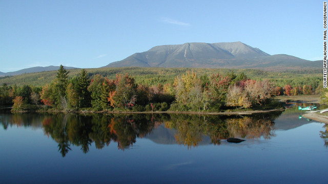 Mount Katahdin in Maine is the northern terminus of the famed Appalachian Trail.