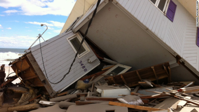 A collapsed house near the Barrier Islands.