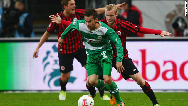 Zoltan Stieber 's second-half strike ensured Greuther Fürth claimed a battling point at an in-form Eintracht Frankfurt.