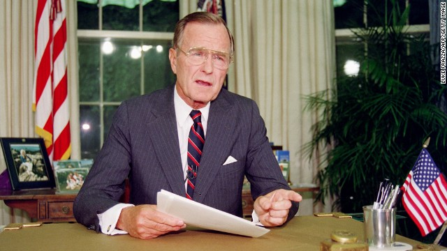 George H.W. Bush, the 41st president (1989-1993<!-- -->)</br>
