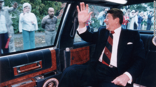 Ronald Reagan, the 40th president (1981-1989<!-- -->)</br>