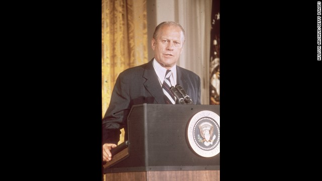Gerald R. Ford, the 38th president (1974-1977<!-- -->)</br>