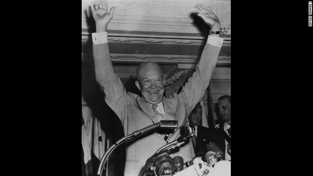 Dwight D. Eisenhower, the 34th president (1953-1961)<!-- --> </br>
