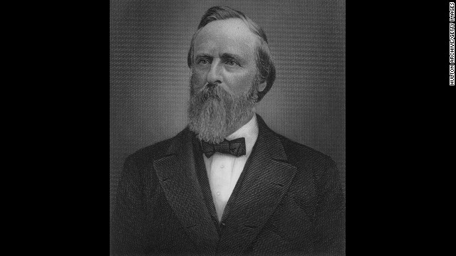 Rutherford B. Hayes, the 19th president (1877-1881<!-- -->)</br>
