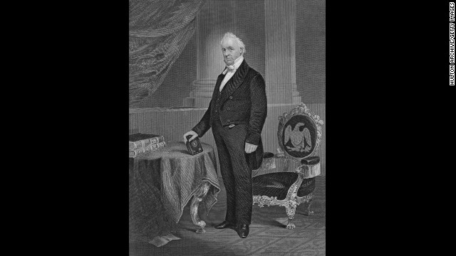 James Buchanan, the 15th president (1857-1861)