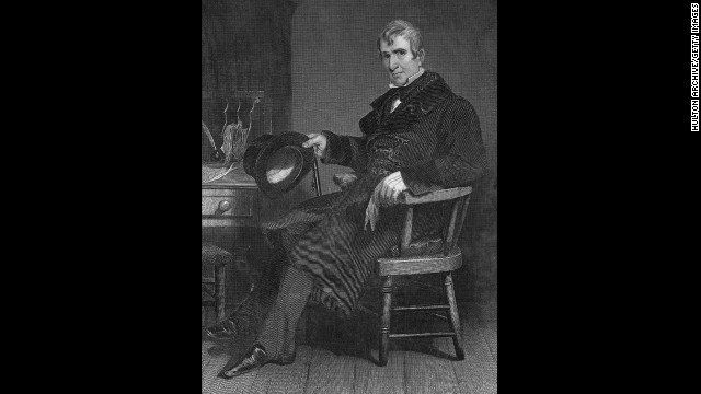 William Henry Harrison, the ninth president (March to April 1841)<!-- --> </br>