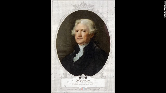 Thomas Jefferson, the third president (1801-1809)