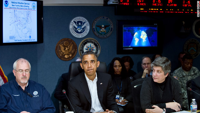 Obama says nothing more important than getting Sandy response right
