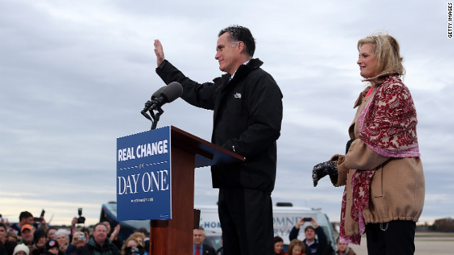 Romney camp ending where they began
