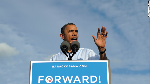 Obama stumps in Hollywood, Florida
