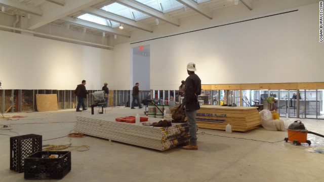 Ongoing construction inside Haunch of Venison, a large gallery in Manhattan's Chelsea neighborhood.
