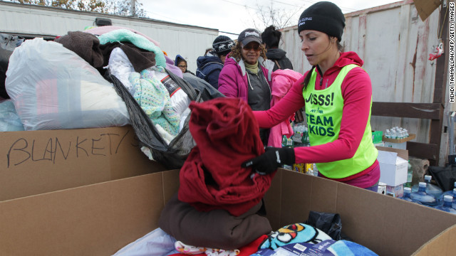Runner Joselyn Fine spends the afternoon volunteering near Midland Beach in Staten Island. 