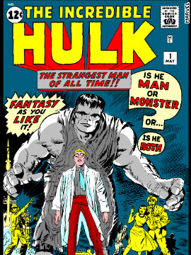 "Fifty years ago, the Hulk was meant to be Marvel Comics' take on ""Frankenstein,"" and he wasn't always a green goliath."