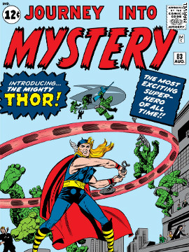 """Journey into Mystery"" No. 83 brought the Norse god Thor into the Marvel universe. His epic adventures fighting his evil brother Loki have endured for 50 years, including his recent hit movie appearances, in which he is played by Chris Hemsworth."
