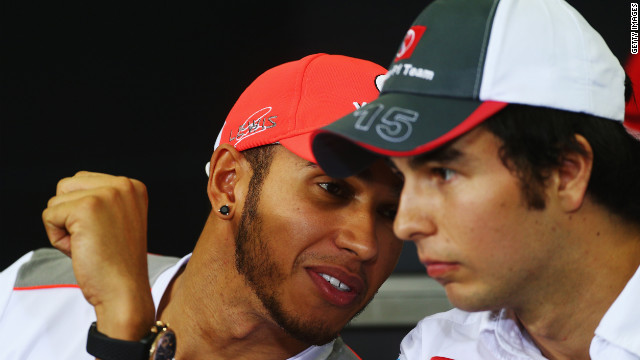 After Lewis Hamilton (left) opted to join Mercedes for the 2013 season, McLaren signed Perez to partner Jenson Button (right) next year.
