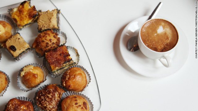 A typical Italian breakfast involves a simple coffee and pastries, often filled with custard, cream or chocolate.