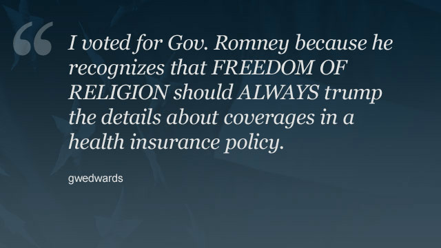 Commenter <a href='http://www.cnn.com/2012/11/02/opinion/obama-vision-for-america/index.html#comment-698523348'>gwedards</a> explains supporting Mitt Romney.