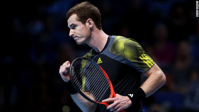 Andy Murray got off to a winning start at the ATP World Tour Finals, beating Tomas Berdych at the O2 Arena in London