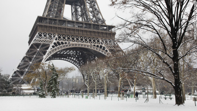 The view of the Eiffel Tower covered in snow is breathtaking. And if you opt for Europe right after Thanksgiving, you'll be there during the wonderful Christmas markets.
