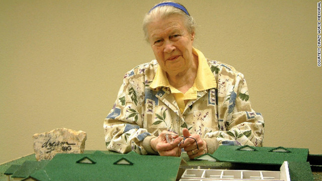 Ruth Ziolkowski, 86, is CEO of the Crazy Horse Memorial. She took over the project when her husband died, and she plans to see it complete in her lifetime. <br/><br/>