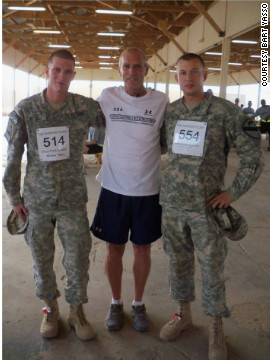 One of Yasso's trips this year involved traveling to Iraq to visit the troops and host a few 5k races<!-- -->.</br>