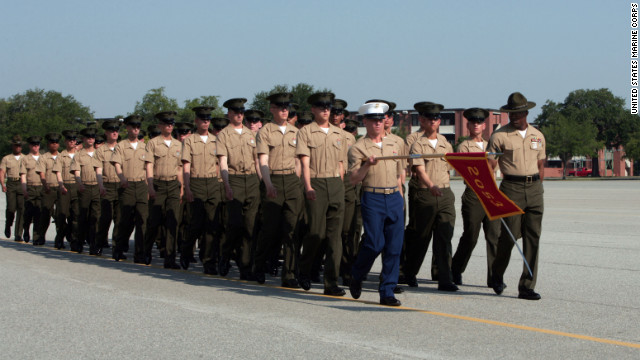 Since it opened as a training facility 1915, the <a href='https://www.mcrdpi.usmc.mil/SitePages/Home.aspx' target='_blank'>U.S. Marine Depot at Parris Island, South Carolina, </a>has become legendary through movies, songs and novels. It has also produced hundreds of thousands of fighting men and women, some seen here during a recent graduation ceremony.