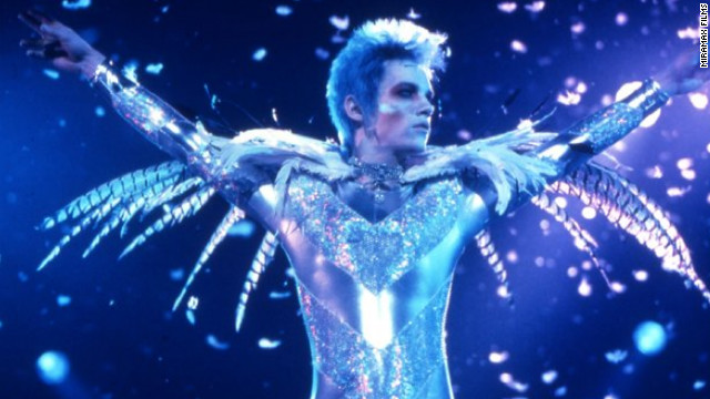 In 1998's &quot;Velvet Goldmine,&quot; Christian Bale plays Arthur Stuartwan, a journalist investigating the disappearance of former rock star Brian Slade, played by Jonathan Rhys Meyers. Ewan McGregor also stars as Slade's one-time lover, Curt Wild.