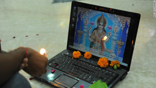 Diwali marks the start of the new Hindu financial year. During this time many businesses open new accounts books and on the third day of the festival businessmen in some states worship their accounts books and work laptops. This ritual is called &quot;Chopda Pujan&quot;, and blesssings are sought from Hindu deities Lakshmi and Ganesha.