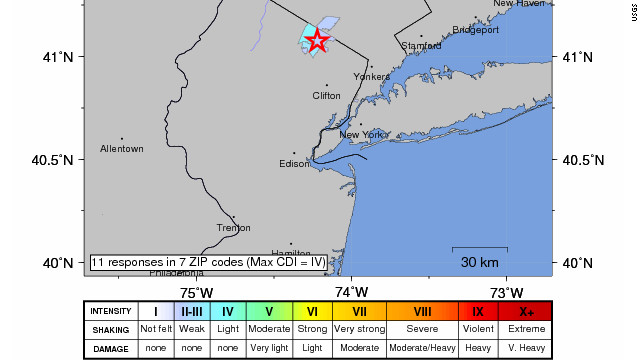 Magnitude-2.0 quake shakes New Jersey