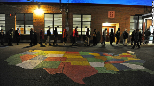 Voters entered Washington Mill Elementary School in Alexandria, Virginia, to cast their ballots Tuesday. 
