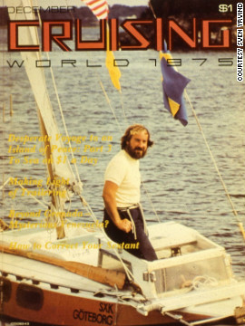 "The world-renowned boat builder wrote articles about his adventures for yachting magazine ""Cruising World"" for more than 20 years, appearing on its cover in December 1975."
