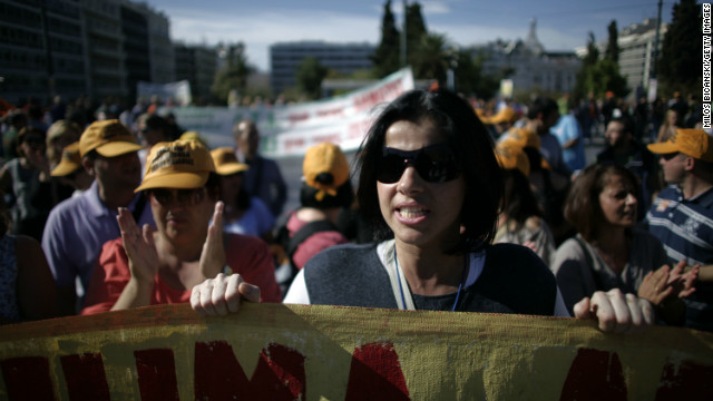 Thousands of Greeks protested against further austerity measures in Athens on Tuesday, November 6, ahead of a crucial Parliamentary vote on emergency cuts and tax increases.