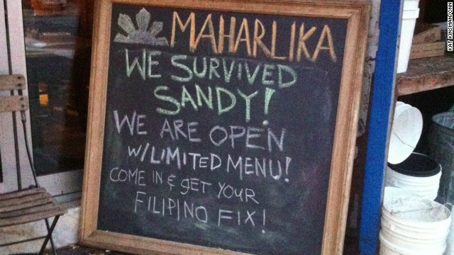 Maharlika boasted one of hundreds of triumphant signs throughout the city, trumpeting a restaurant's return.
