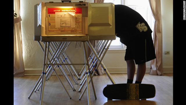A Colorado voter is sucked into the Votron 3000 time machine. He ended up voting for Samuel Tilden.