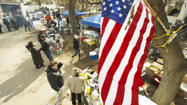 'Inspiring,' 'insane' describe New York polling places in Sandy's wake