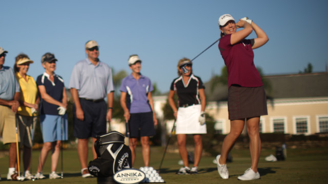 Sorenstam still spends a lot of time on the golf course as she works with players of all standards in her thriving academy.