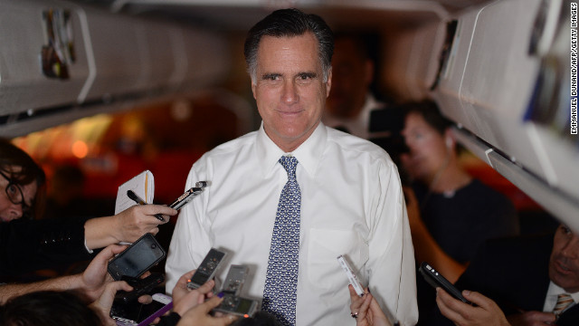 Republican presidential candidate Mitt Romney spoke with journalists during the last flight of his presidential campaign.