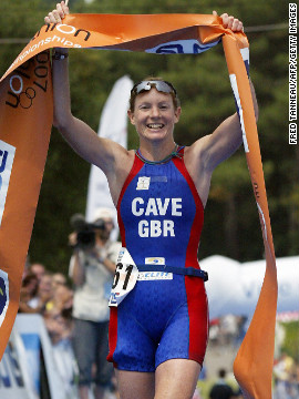 Leanda Cave became the first female in history to win both the Ironman World Championship and the Half Ironman World Championship in 2012. The British athlete finished the 2.4-mile swim, 112-mile bike ride and 26.2-mile run in nine hours, 15 minutes and 54 seconds, &lt;a href='http://www.bbc.co.uk/sport/0/triathlon/19940336' target='_blank'&gt;according to the BBC&lt;/a&gt;. 