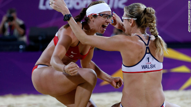 "As Sports Illustrated writer Phil Taylor says, ""With all due respect to the other teams who compete in beach volleyball ... there is the duo of Misty May-Treanor and Kerri Walsh Jennings, and there is everybody else."" May-Treanor, left, and Walsh Jennings went into retirement after the 2008 Beijing Olympics. During their time off, May-Treanor tore her Achilles tendon while rehearsing for ""Dancing With the Stars,"" and Walsh Jennings gave birth -- twice. Still, the duo reunited to dominate the 2012 Olympics, losing only one set in their quest for gold."