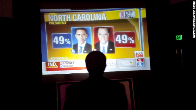Big boards in Tampa reported results at an event sponsored by the Republican Party of Florida. See the best of Romney and Obama on the campaign trail.