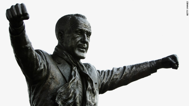Manchester United's great rivals Liverpool have a statue of former Scottish manager Bill Shankly outside their Anfield ground.