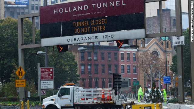 Holland Tunnel linking New York, New Jersey to reopen after storm